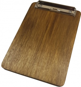 Solid Wooden Menu Clipboard A5 and A4 for sale with fast UK Delivery